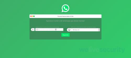 Campos similares que solicitan completar algunas de las falsas herramientas para espiar WhatsApp.