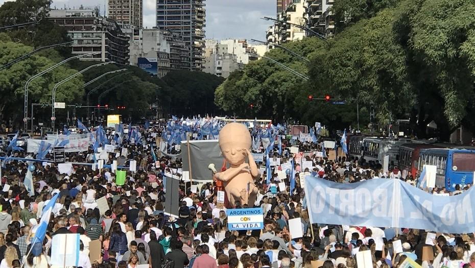 Marcha contra la ley de aborto 25/03/18Foto Mario Quinteros